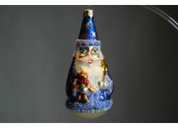 Vánoční ozdoba čaroděj F393 modrý