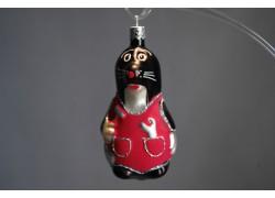 Vánoční ozdoba Krteček F430 červený 10cm