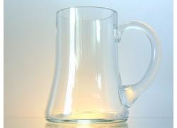 Půllitr ze skla na pivo www.sklenenevyrobky.cz