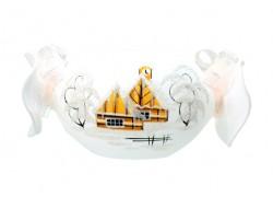 Bonbón vánoční svícen na svíčku bílý