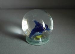 Snow globe 60mm dolphin www.sklenenevyrobky.cz