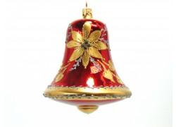 Sklenený vianočný zvon 12x10 cm
