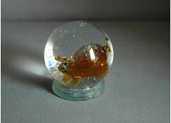 Sněhová koule 60mm prasátko