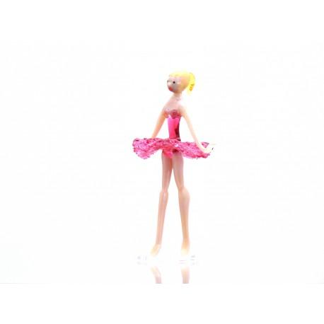 Skleněná baletka 14cm červená