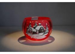 Vánoční miska 10cm řezaná červená