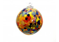 Colored glass ball 8 cm www.sklenenevyrobky.cz