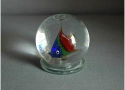 Sněhová koule 60mm rybka 2