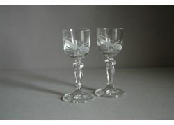 Mariana glass for liqueur, 2 pcs, bow decor www.sklenenevyrobky.cz