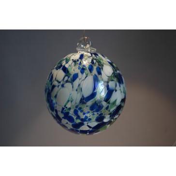 Závěsná koule z hutního skla 10cm 2.