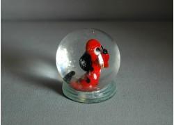 Sněhová koule 60mm pejsek červený