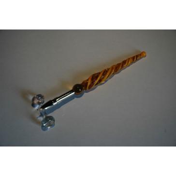 Skleněné psací pero malé 12cm s ministojánkem