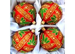 Christmas balls set 4 pieces, balls 10 cm