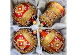 Vánoční koule sada 2 ks, Oliva a Zvon www.sklenenevyrobky.cz