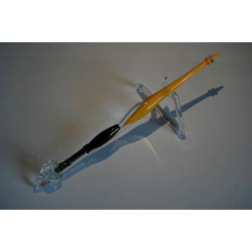 Skleněné psací pero velké 15-18cm se stojánkem II.
