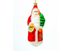 Christmas ornaments Santa with a tree