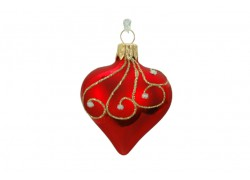 Christmas Ornament Heart Decorated 10cm