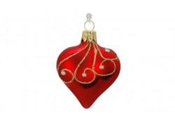 Christmas ornaments Heart small www.sklenenevyrobky.cz