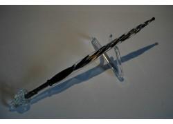 Skleněné psací pero velké 15-18cm se stojánkem XI.