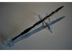 Skleněné pero velké 15-18cm se stojánkem