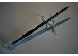 Skleněné psací pero velké 15-18cm se stojánkem XIII.