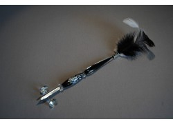 Skleněné pero velké 15-18cm bez stojánku I.