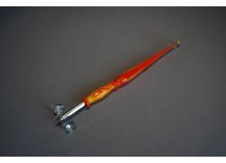 Skleněné psací pero velké 15-18cm bez stojánku V.