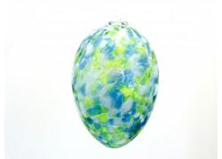 Skleněné barevné vajíčko www.sklenenevyrobky.cz