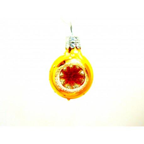 Vánoční koule vpichovaný reflektor zlatá 3 cm