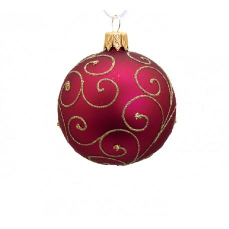 Christmas ball 6 cm Bordeaux