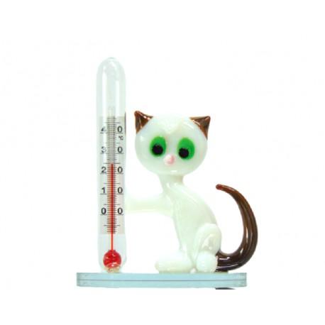Cat with a thermometer www.sklenenevyrobky.cz