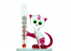 Cat with a thermometer