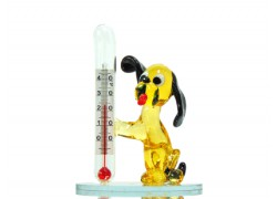 Dog with a thermometer