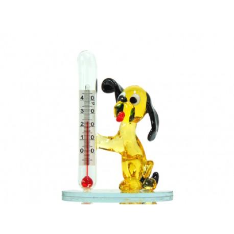 Dog with a thermometer www.sklenenevyrobky.cz