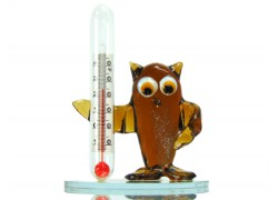 Owl with a thermometer