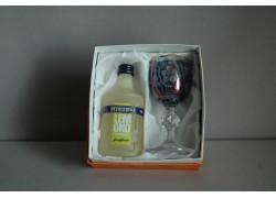 Becherovka Lemond mini 0,05l dárková sada modrá sklenice