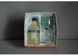 Dárkové balení Becherovka Lemond mini 0,05l se skleničkou