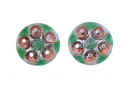 Glass earrings www.sklenenevyrobky.cz