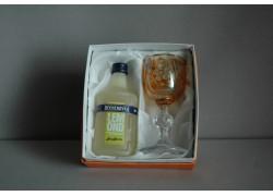 Dárkový set Becherovka Lemond mini 0,05l žlutá sklenička