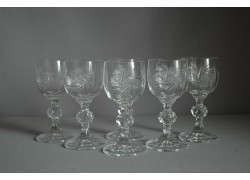 Claudia liqueur glass, 6 pcs, pinwheel decor www.sklenenevyrobky.cz