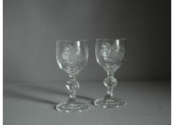 Claudia liqueur glass, 2 pcs, pinwheel decor www.sklenenevyrobky.cz
