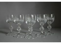 Claudia liqueur glass, 6 pcs, bow decor www.sklenenevyrobky.cz