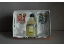 Dárkový set Becherovka Lemond mini 0,05l + 2 sklenice
