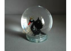 Sněhová koule 80mm labuť černá