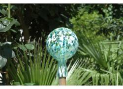 Plotová koule z hutního skla 12cm IV.