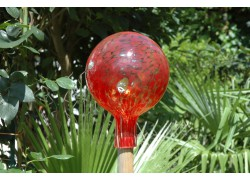 Plotová koule z hutního skla 15cm II.