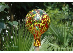 Plotová koule z hutního skla 15cm III.