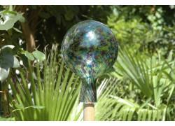 Plotová koule z hutního skla 15cm IV.