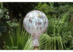Fence balls made of blown glass 15cm www.sklenenevyrobky.cz