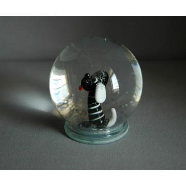 Sněhová koule 80mm pejsek černý
