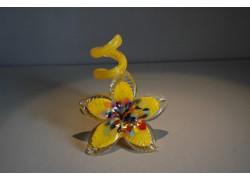 Svícen květina z hutního skla 10x13cm VI.
